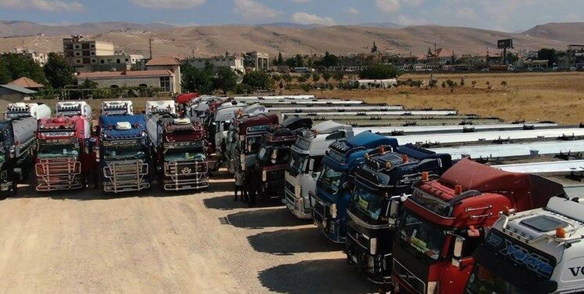 حرکت کاروان ۶۰ تانکری حامل سوخت ایران به سوی لبنان