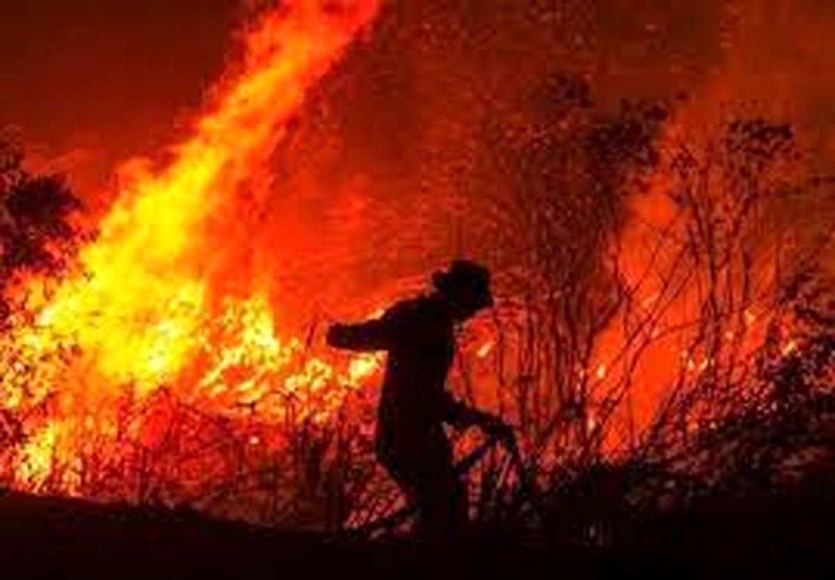 اعزام ۱۱۰ نیروی تازه نفس برای مهار آتش به جنگل کردکوی