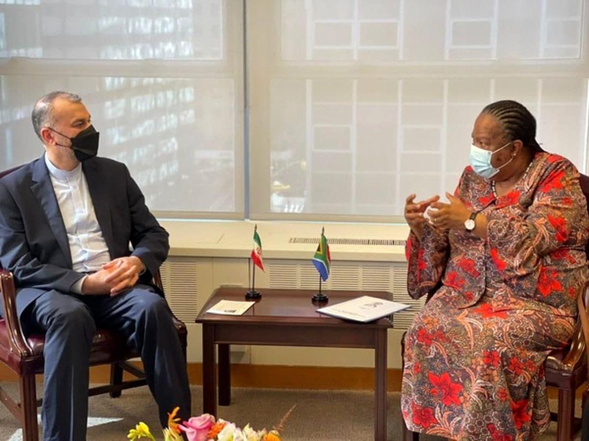 امیرعبداللهیان با وزیر همکاری آفریقای جنوبی دیدار کرد