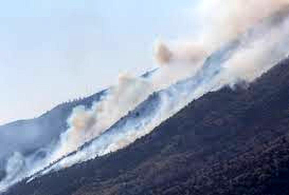وقوع آتش سوزی در ارتفاعات کوه سفید لنده