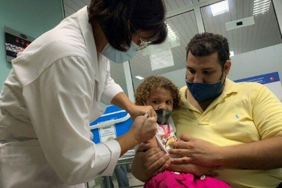 واکسیناسیون کودکان بالای ۲ سال در کوبا آغاز شد